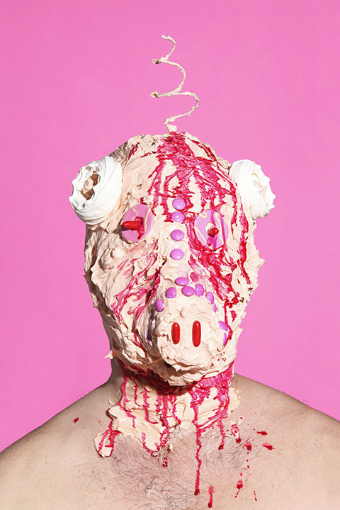 Grotesque Portraits made of Sweets and Junk Food 7