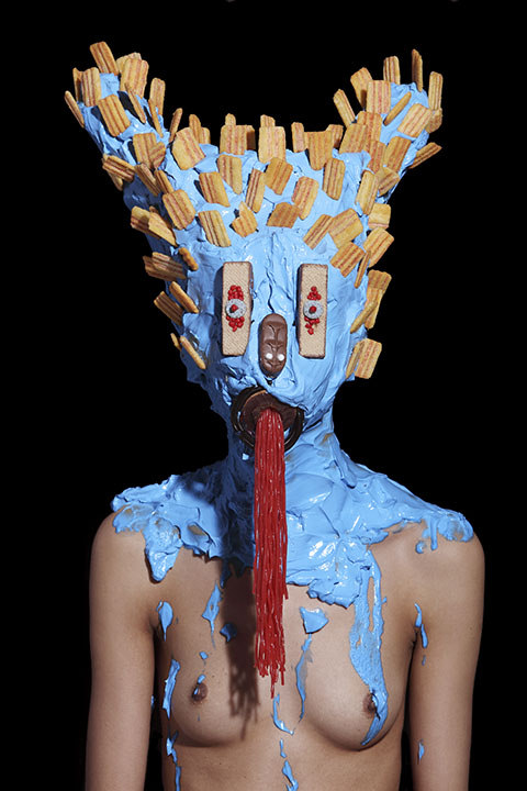 Grotesque Portraits made of Sweets and Junk Food 8