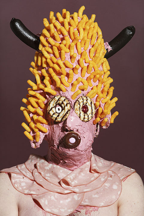 Grotesque Portraits made of Sweets and Junk Food 9