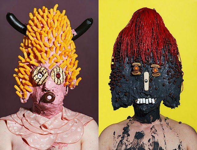 Grotesque Portraits made of Sweets and Junk Food