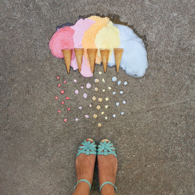 Arrangement color coded photography Emily Blincoe