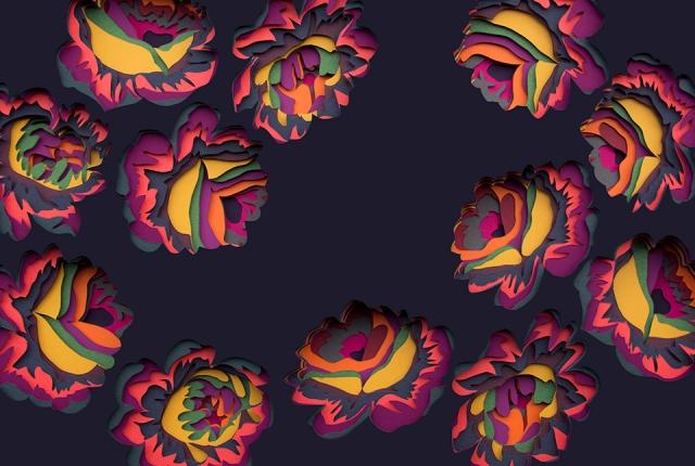 colorful paper art maud vantours 10