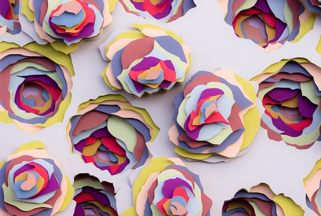 colorful paper art maud vantours 11