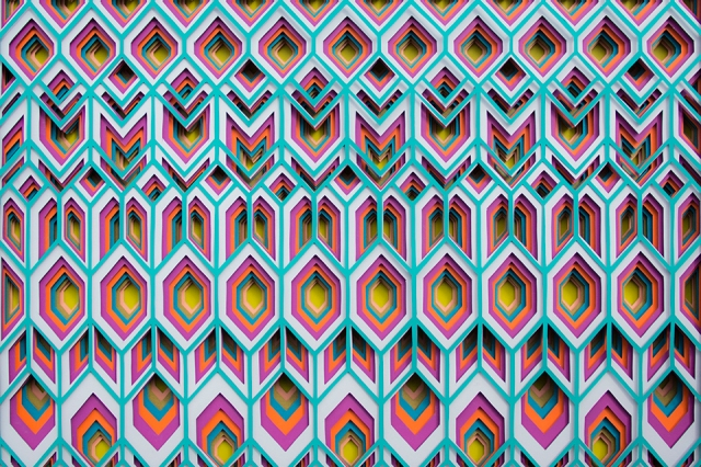 colorful paper art maud vantours 2