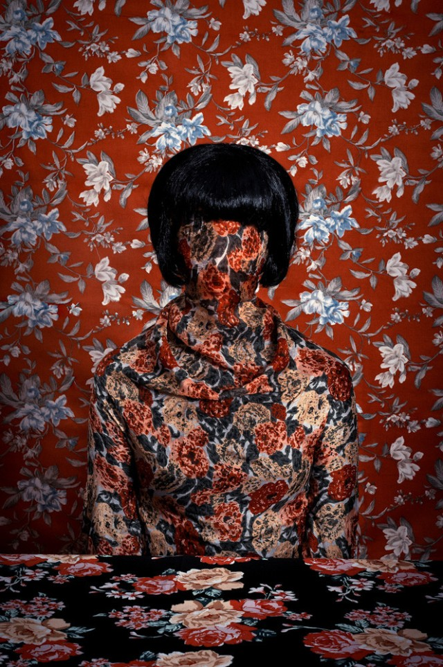 what do you hide Patterned portraits Romina Ressia 6