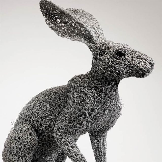 Galvanized wire sculptures  Kendra Haste 3