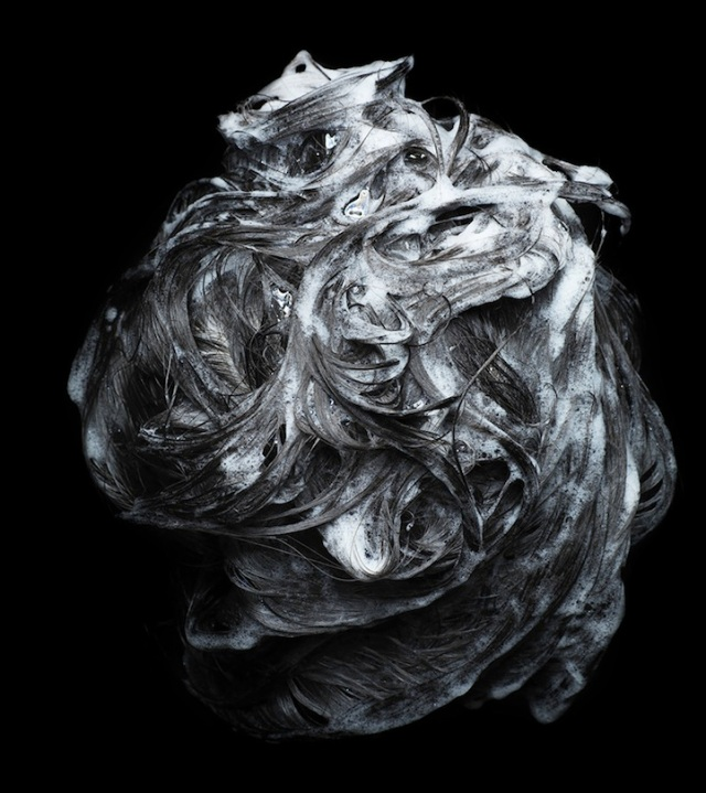 Shampooed Hair Presented as Abstract Art Lo Cheuk