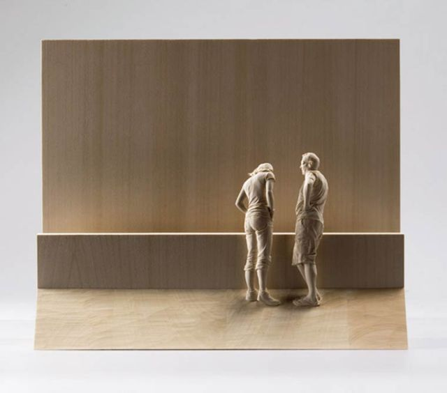 realistic wooden sculptures Peter Demetz 4