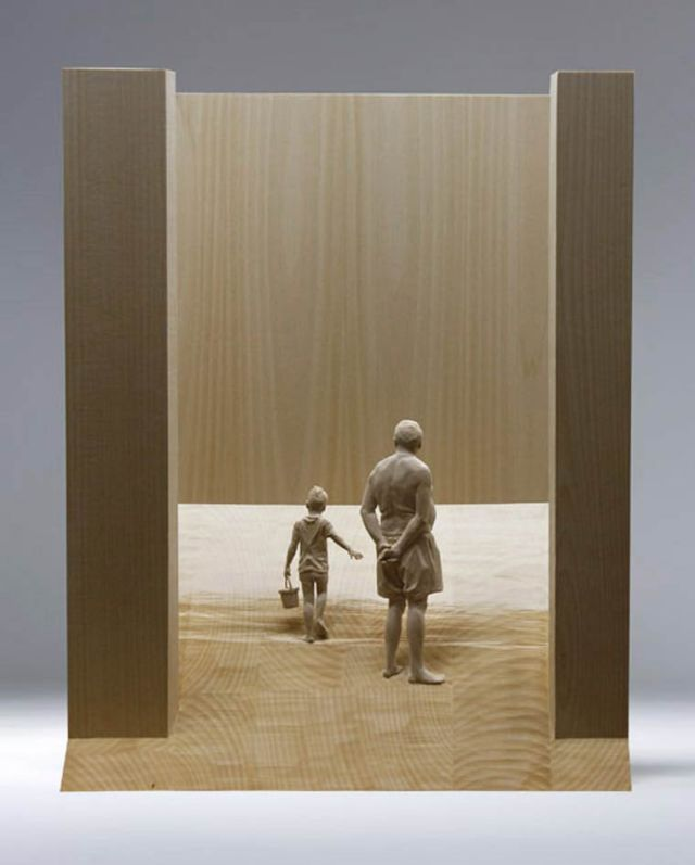 realistic wooden sculptures Peter Demetz 5