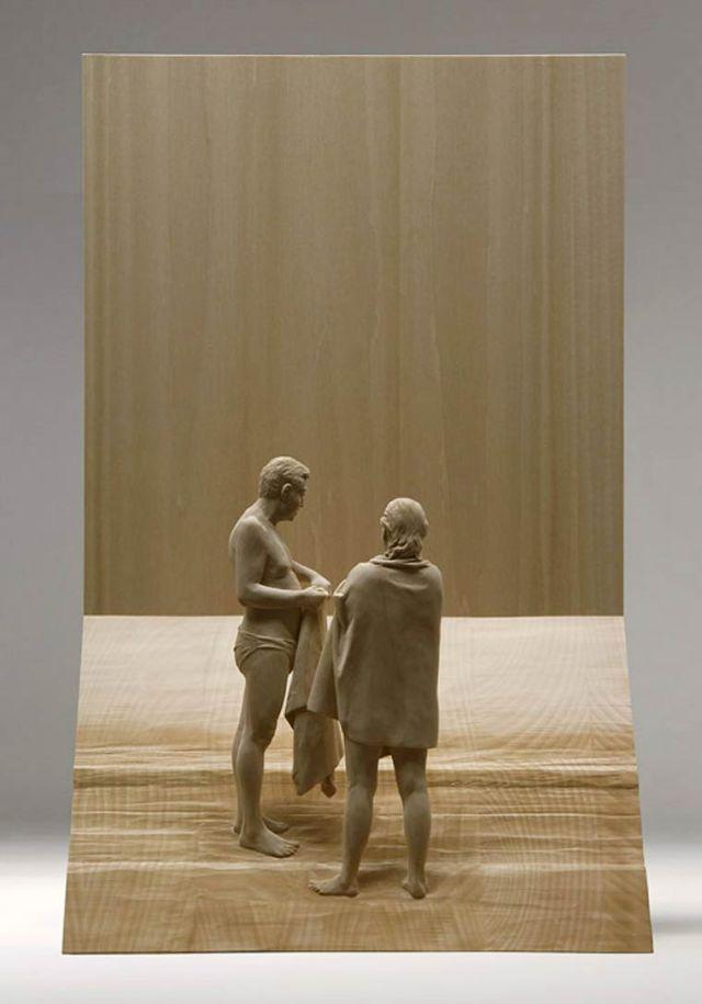 realistic wooden sculptures Peter Demetz 8