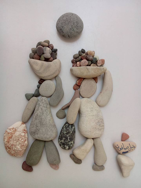 nizar ali bahr poetic ston sculptures